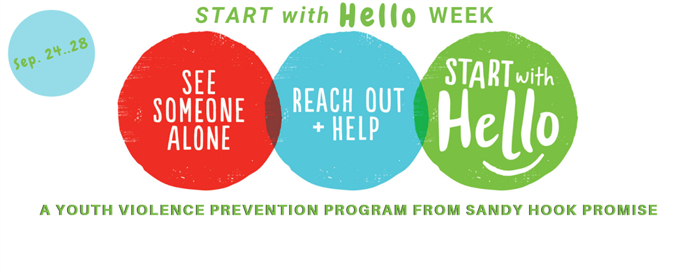 """Start With Hello"" logo"
