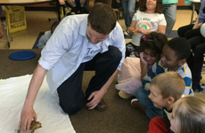 Mr. Rackow's class learns about endangered reptiles