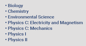 AP Science Course Offerings