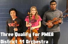 Three Qualify for PMEA District 11 Orchestra
