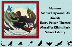 Alumnus Arthur Haywood '08 Unveils Harry Potter-Themed Mural for Elkins Park School Library