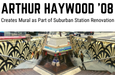 Alumnus Haywood Creates Mural as Part of Suburban Station Renovation