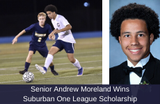 Senior Andrew Moreland Wins Suburban One League Scholarship