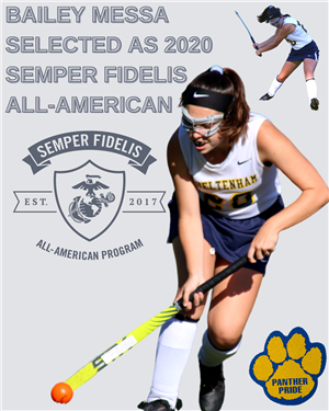 Senior FH Player Bailey Messa Selected as 2020 Semper Fidelis All-American for Academic and Athletic Excellence