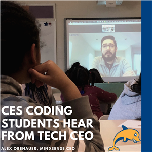 CES Coding Students Hear from Tech CEO