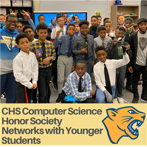 High School's Computer Science Honor Society Networks with Younger Students