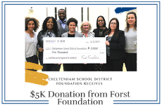 Cheltenham School District Foundation Receives $5K Donation from Forst Foundation