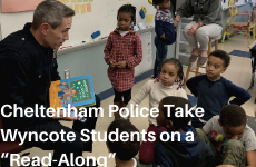 "Cheltenham Police Take Wyncote Students on a ""Read-Along"""