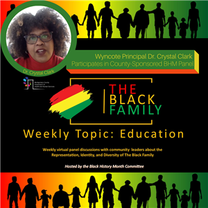 Wyncote Principal Dr. Crystal Clark Participates in County-Sponsored BHM Panel