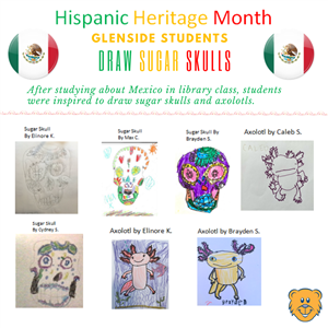 Glenside Students Draw Sugar Skulls as Part of Hispanic Heritage Month Celebration