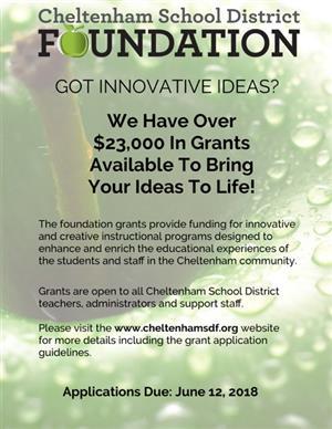 foundation offers innovation grants for cheltenham teachers and staff