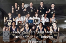 Lady Panthers 2000 State Title Team to Be Honored Friday