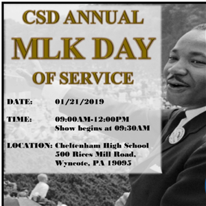 MLK Day of Service Flyer