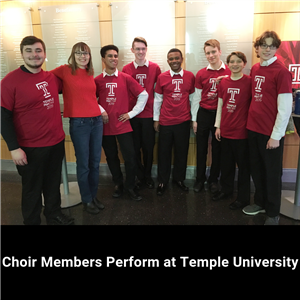 CSD Choir Members at Temple U