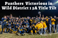 Panthers Football Victorious in Wild District 1 5A Title Tilt