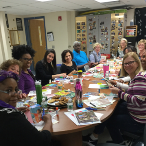 Staff participate in well-being Soul Collage workshop