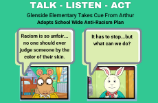Glenside Elementary Adopts Talk-Listen-Act Plan to Combat Racism