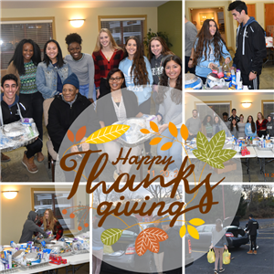 Student Council donates Thanksgiving Day Baskets