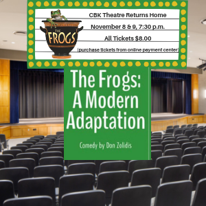 CBK Fall Play The Frogs Logo