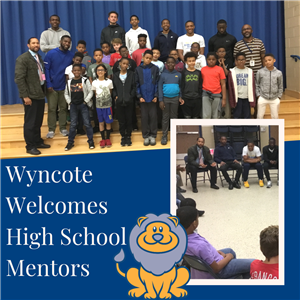 Wyncote students with CHS mentors