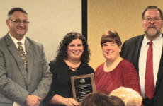 Jen Pollack accepts PCSS Award