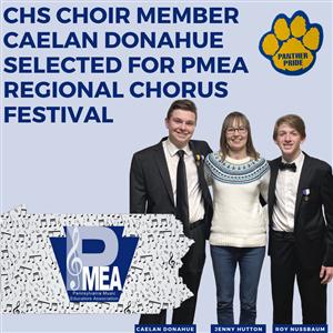 CHS Choir Member Caelan Donahue Selected for PMEA Regional Chorus Festival