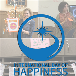 Staff prepare of International Day of Happiness
