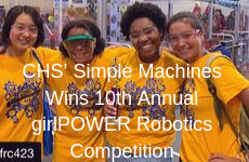 CHS' Simple Machines Wins 10th Annual girlPOWER Robotics Competition