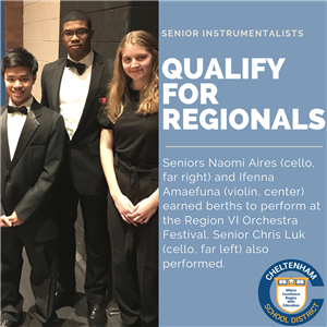 Senior Instrumentalists Aires and Amaefuna Advance to PMEA Regionals