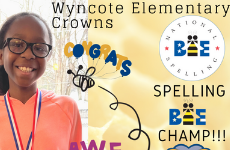 WES Crowns Spelling Bee Champ