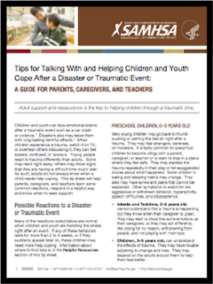 SAMHSA article coping with disaster