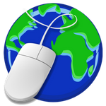webpage icon, glove and mouse